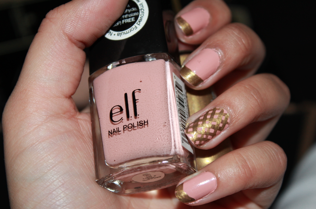 Current Nails, e.l.f nude nail polish and Technic nail brush in Gold ...
